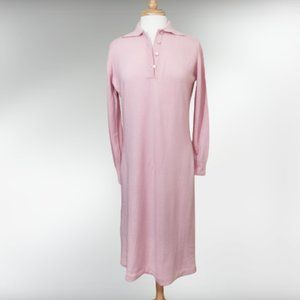 Vintage Baby Pink 2-Ply Cashmere Sweater Dress